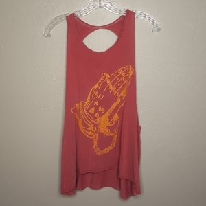 Obey Holy Hands Open Back Tank Top